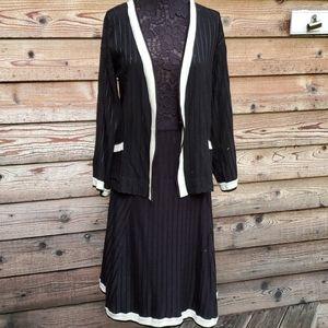 Vintage Cache skirt set stripes in fabric medium